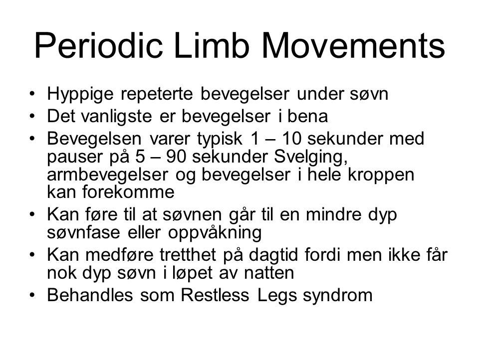 Periodic Limb Movements