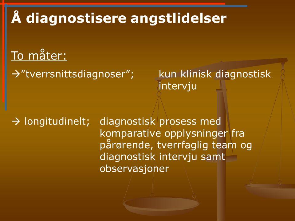 Å diagnostisere angstlidelser
