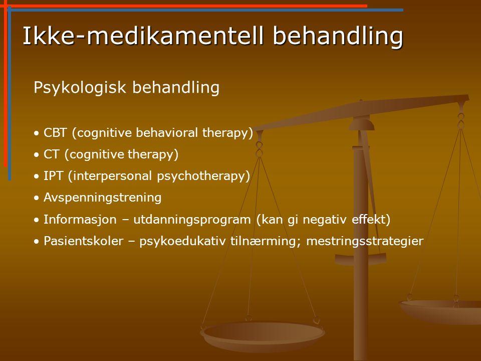 Ikke-medikamentell behandling