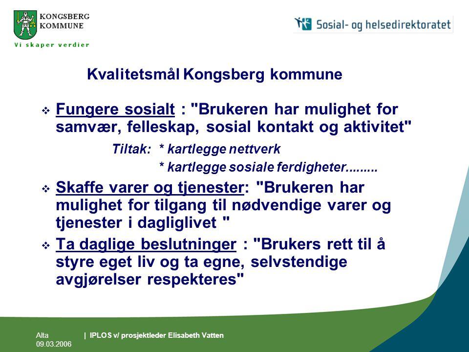 Kvalitetsmål Kongsberg kommune