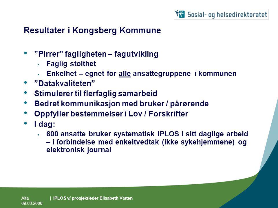 Resultater i Kongsberg Kommune