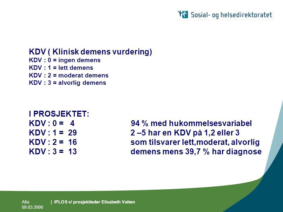 KDV ( Klinisk demens vurdering)