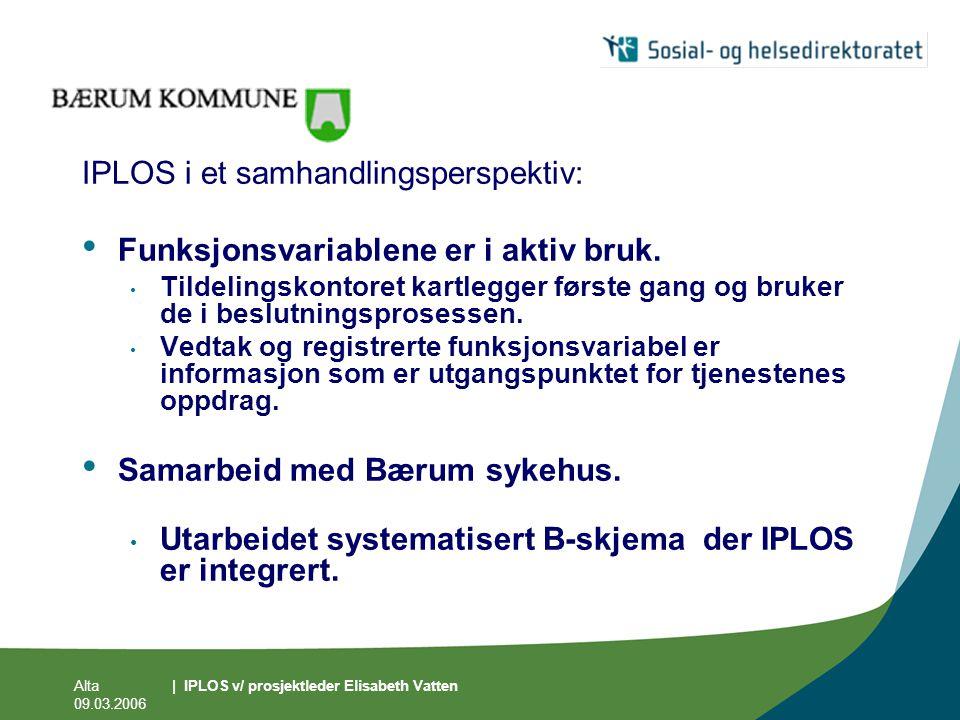 IPLOS i et samhandlingsperspektiv: