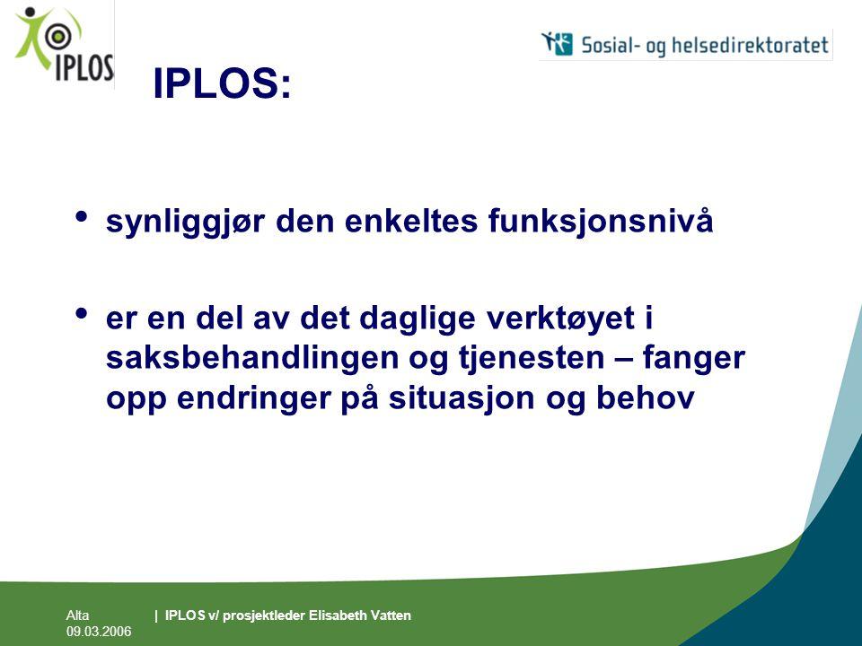 IPLOS: synliggjør den enkeltes funksjonsnivå