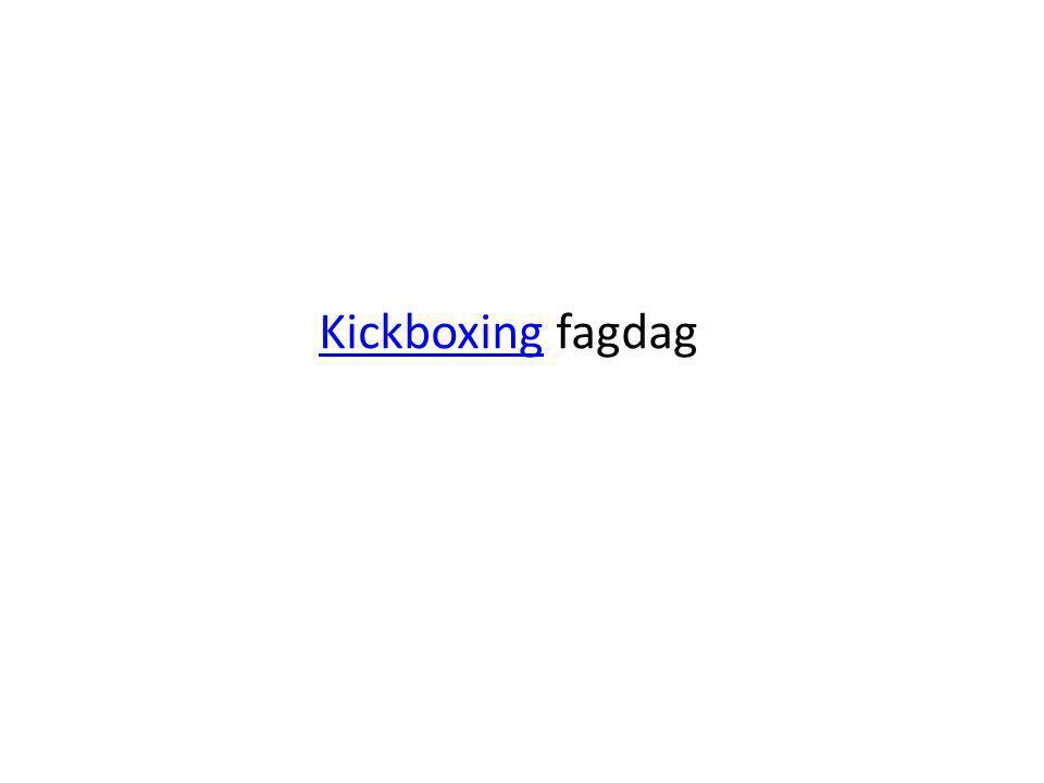 Kickboxing fagdag