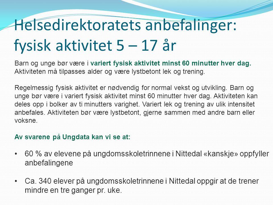 Helsedirektoratets anbefalinger: fysisk aktivitet 5 – 17 år