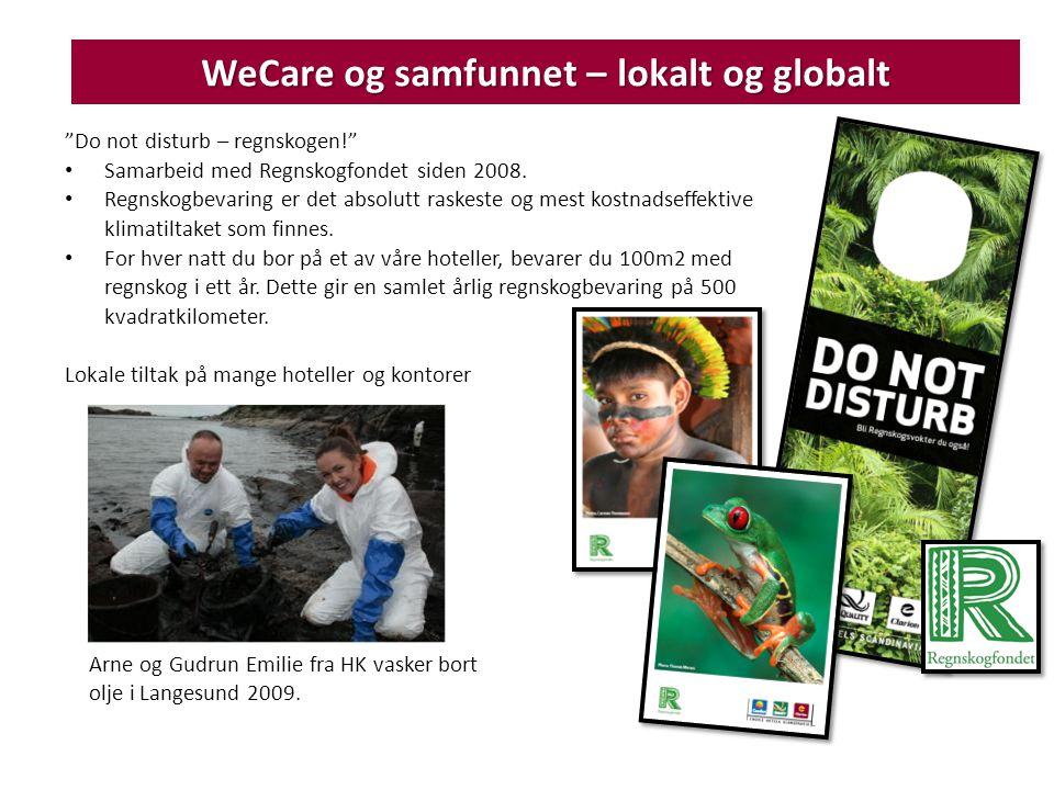 WeCare og samfunnet – lokalt og globalt