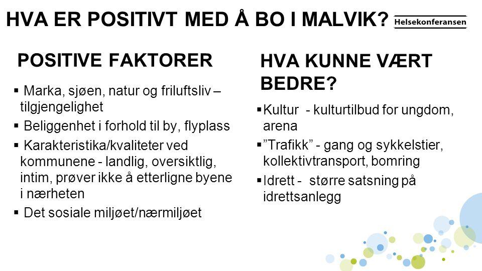 HVA ER POSITIVT MED Å BO I MALVIK