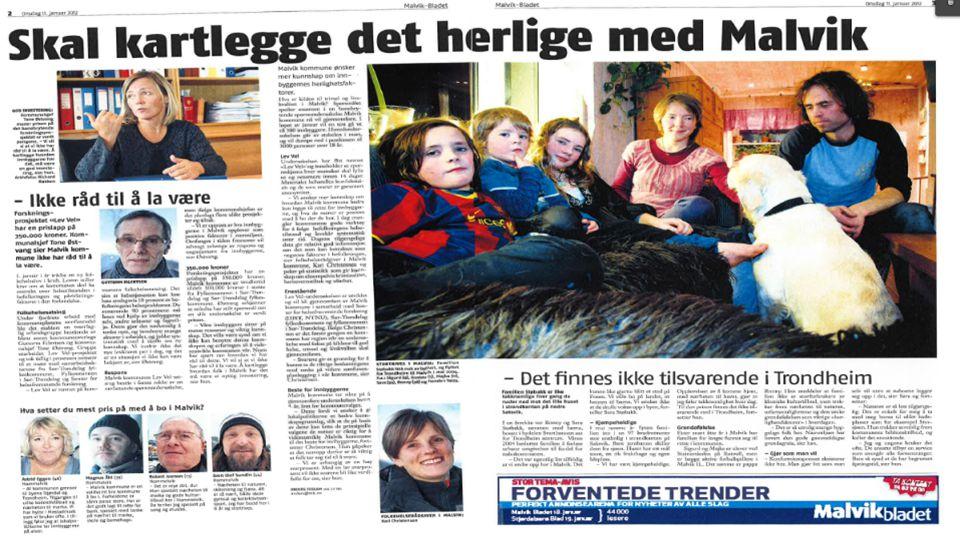 Januar i 2012 fikk vi så dette oppslaget i lokalavisa