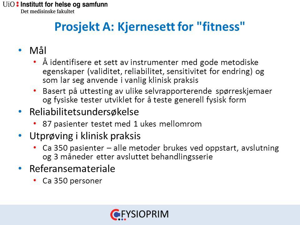 Prosjekt A: Kjernesett for fitness