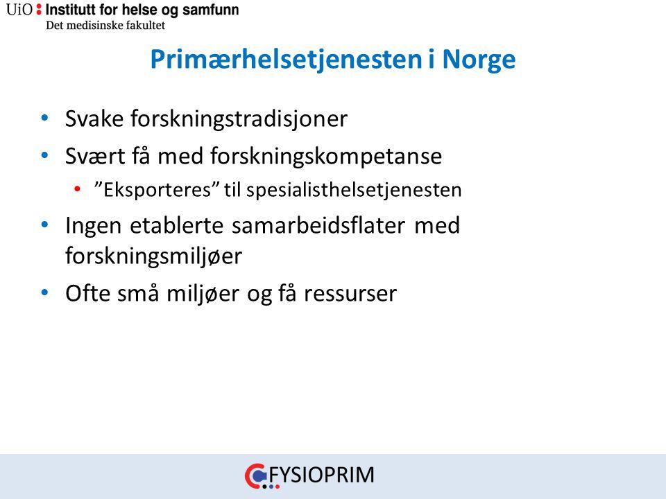 Primærhelsetjenesten i Norge