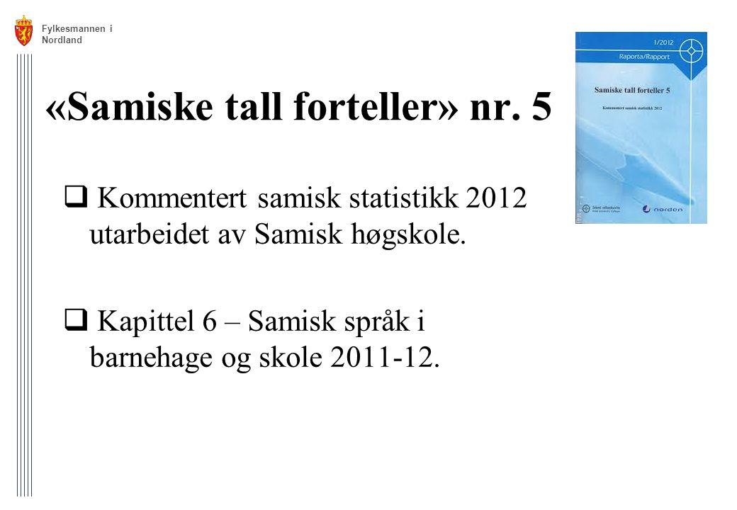 «Samiske tall forteller» nr. 5