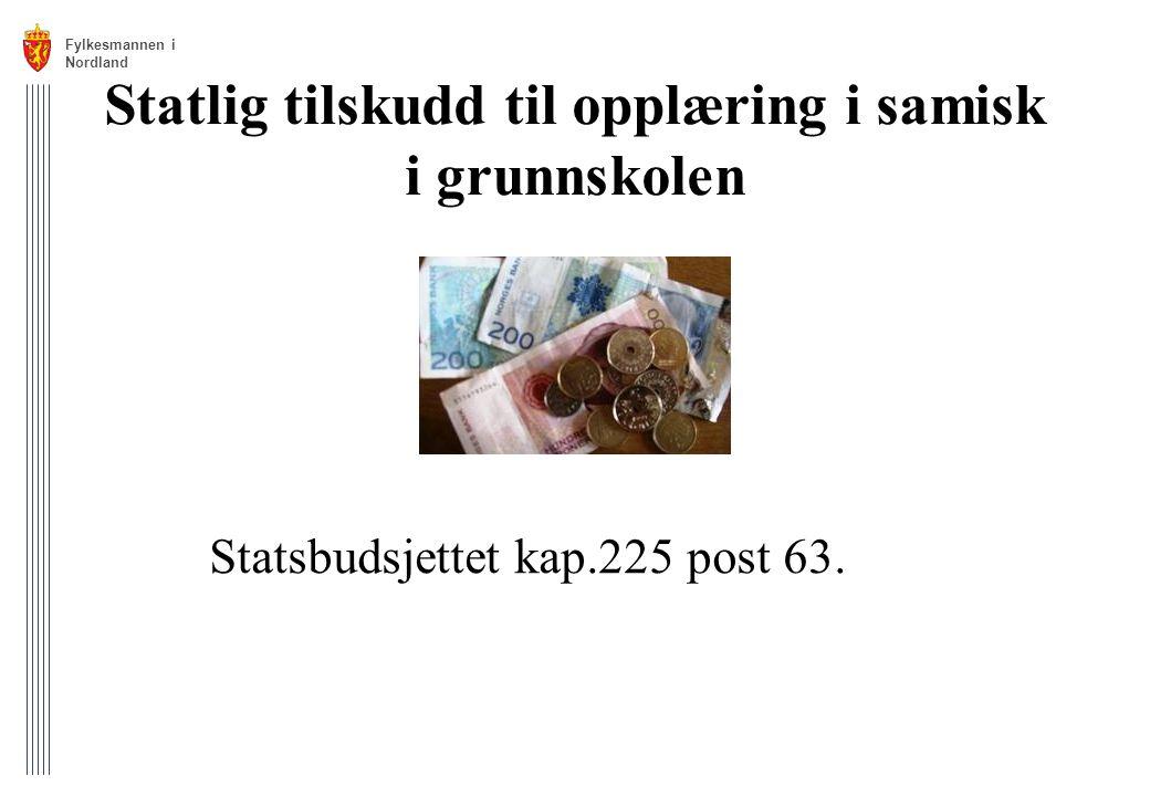 Statlig tilskudd til opplæring i samisk i grunnskolen