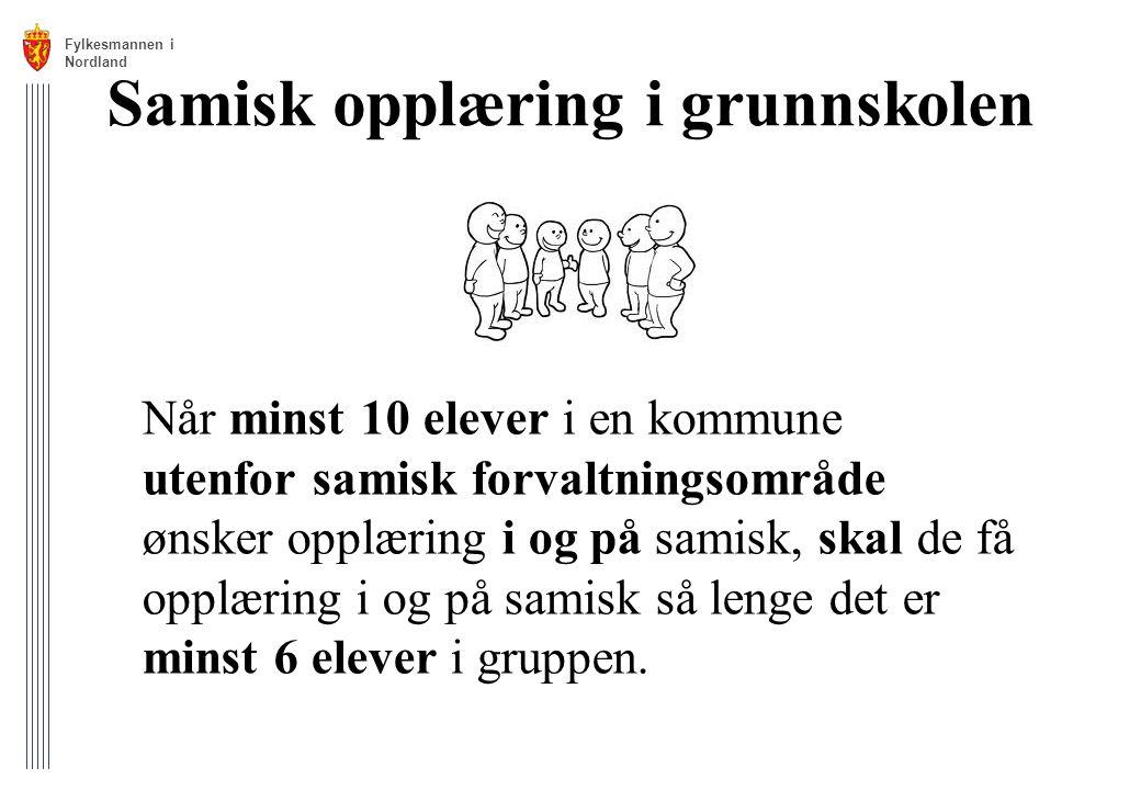 Samisk opplæring i grunnskolen