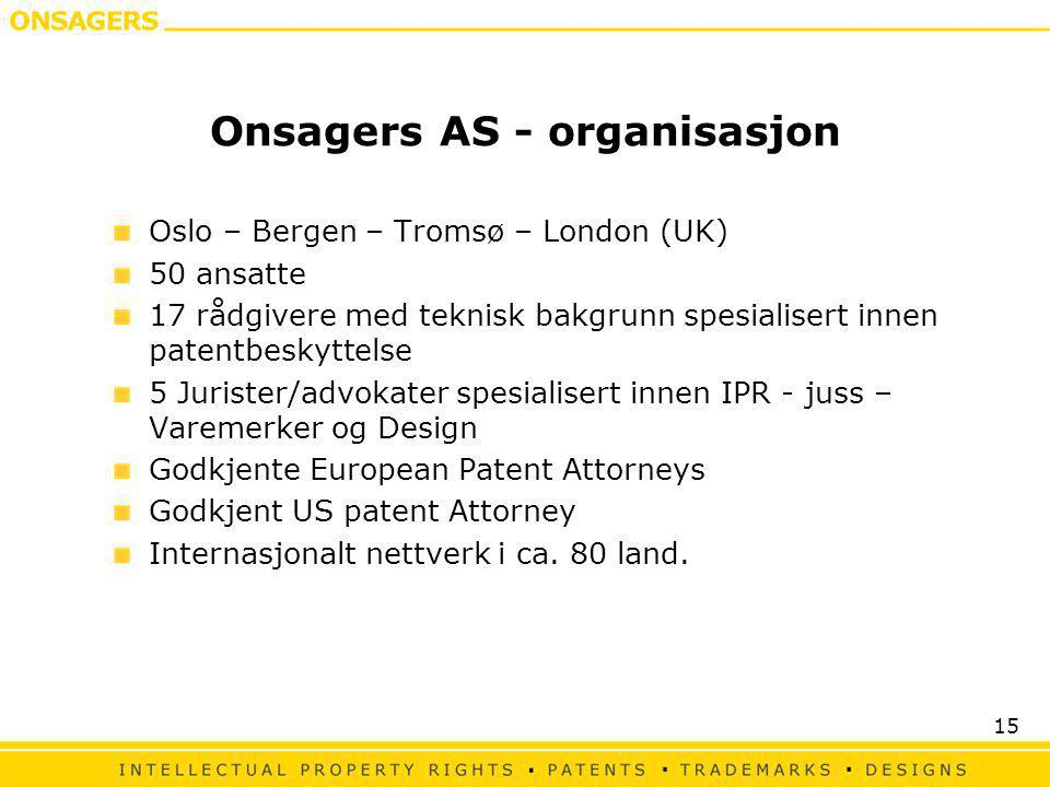 Onsagers AS - organisasjon