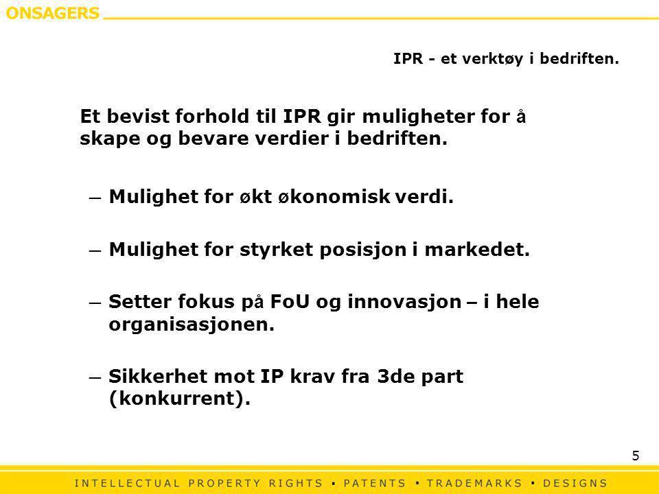 IPR - et verktøy i bedriften.