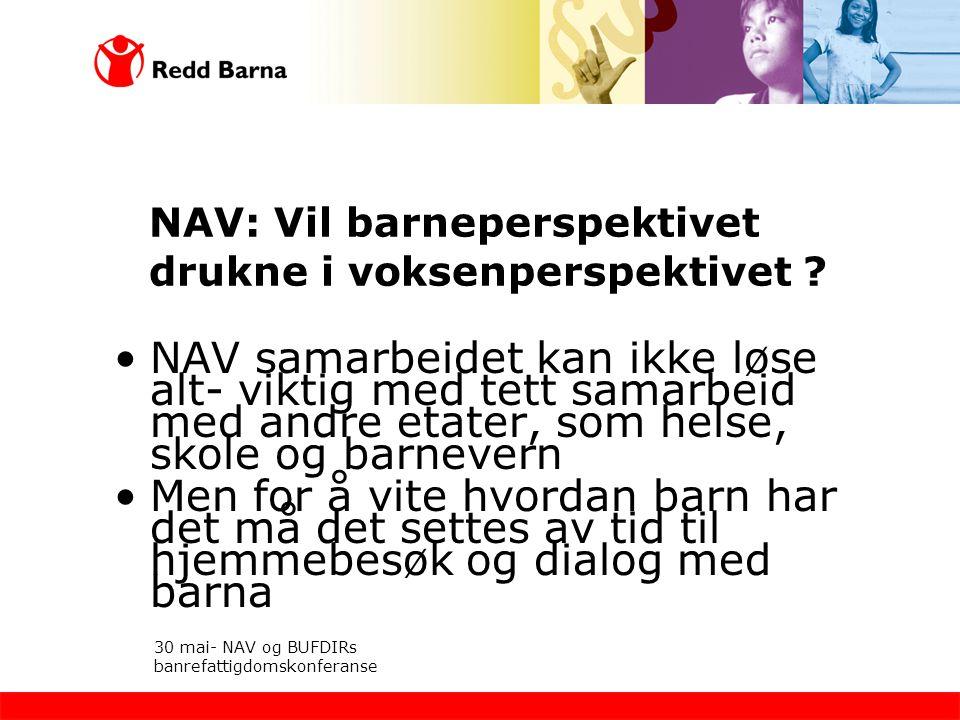 NAV: Vil barneperspektivet drukne i voksenperspektivet
