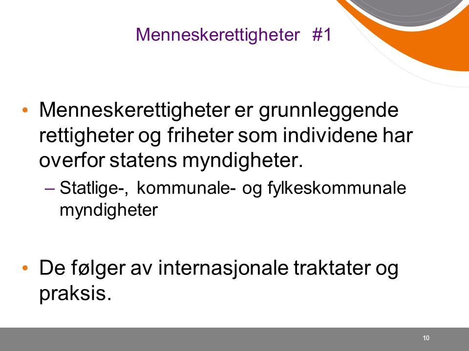 Menneskerettigheter #1