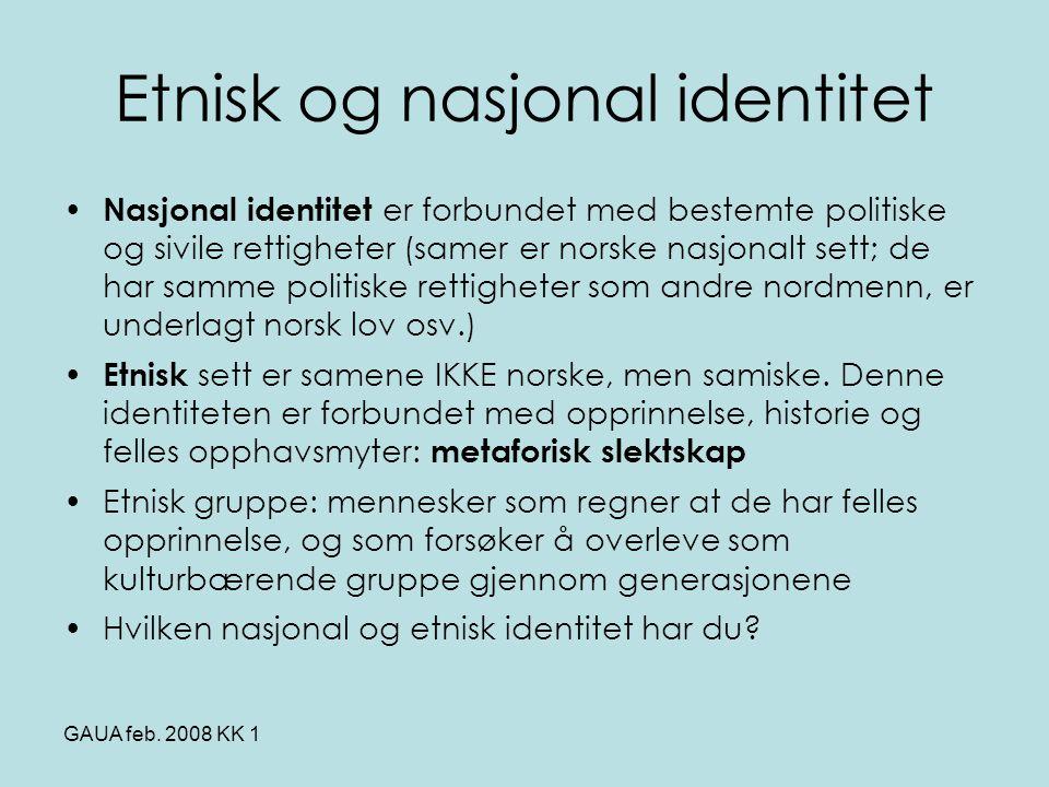 Etnisk og nasjonal identitet