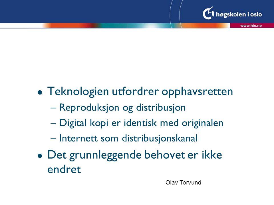 Teknologien utfordrer opphavsretten