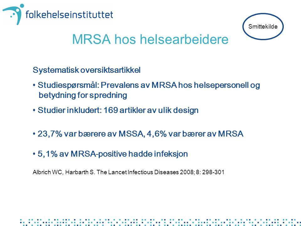 MRSA hos helsearbeidere
