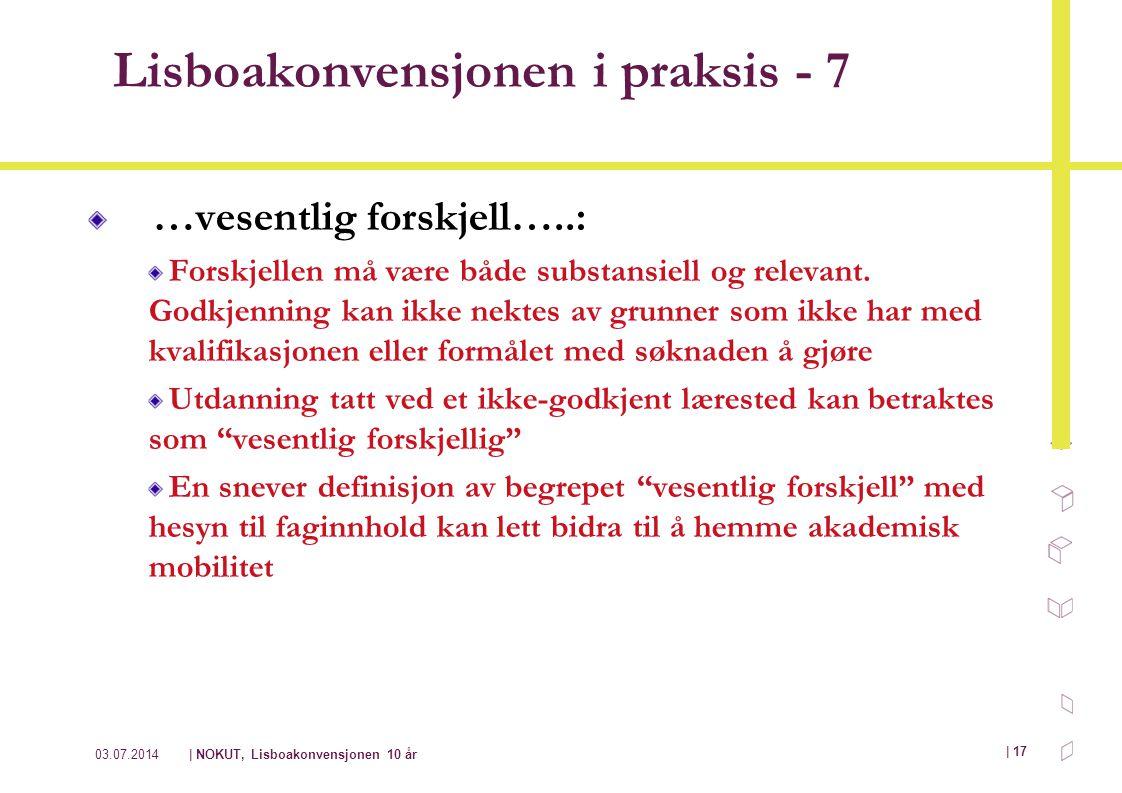 Lisboakonvensjonen i praksis - 7