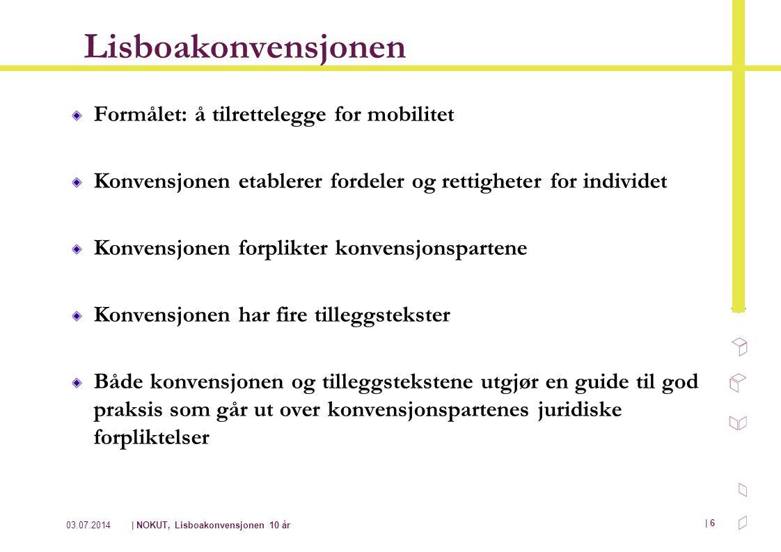 Lisboakonvensjonen Formålet: å tilrettelegge for mobilitet