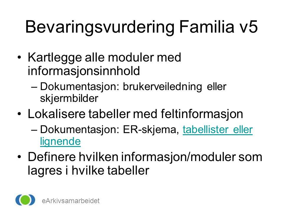 Bevaringsvurdering Familia v5