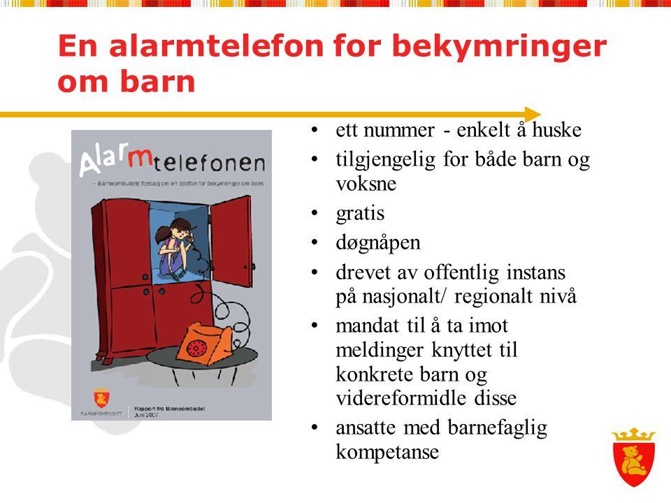En alarmtelefon for bekymringer om barn