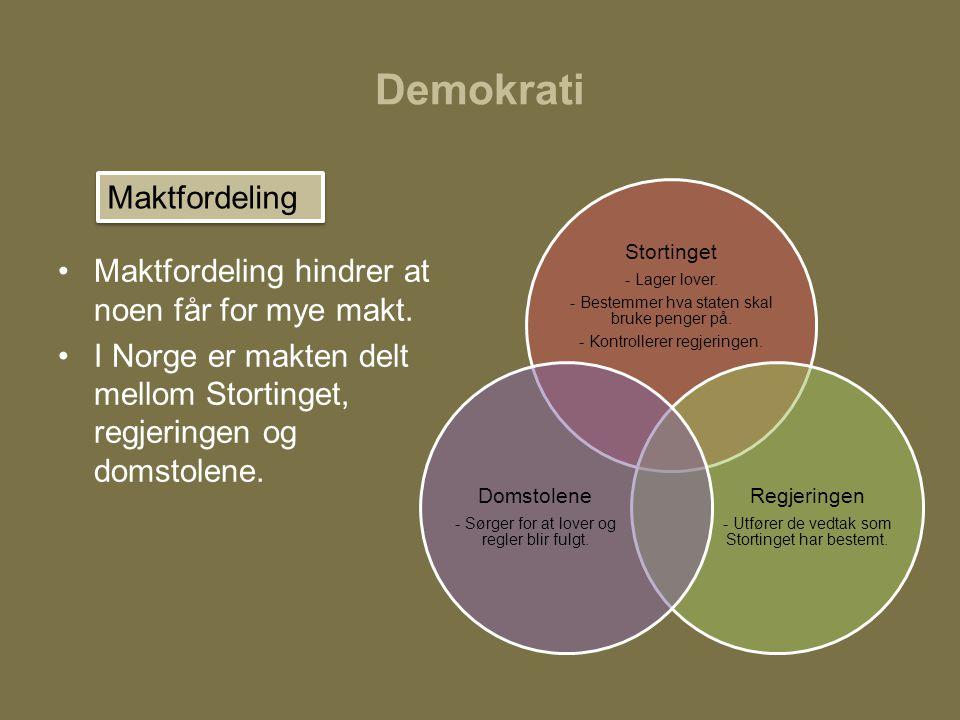 Demokrati Maktfordeling