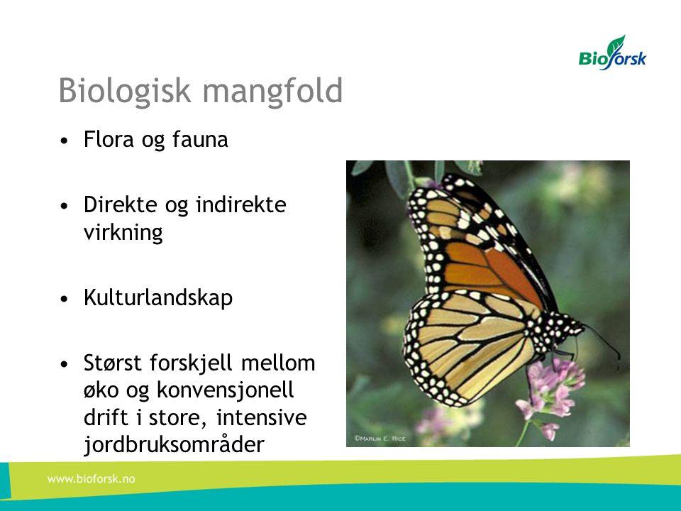 Biologisk mangfold Flora og fauna Direkte og indirekte virkning