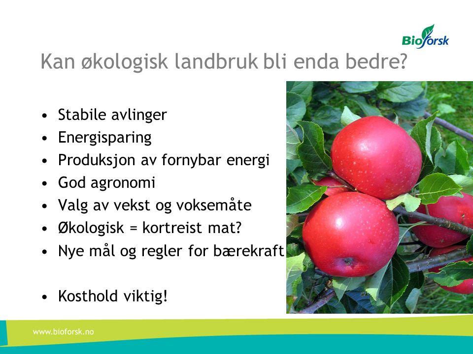 Kan økologisk landbruk bli enda bedre