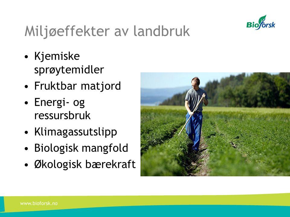 Miljøeffekter av landbruk