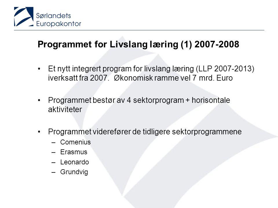 Programmet for Livslang læring (1) 2007-2008