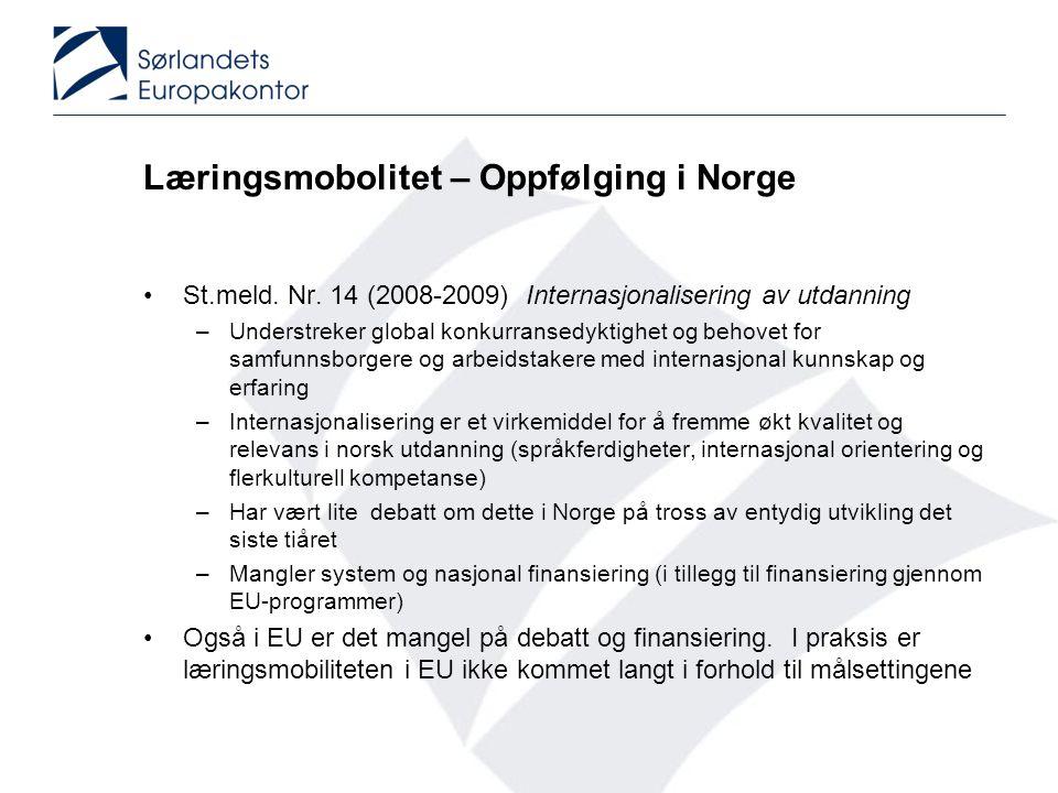 Læringsmobolitet – Oppfølging i Norge