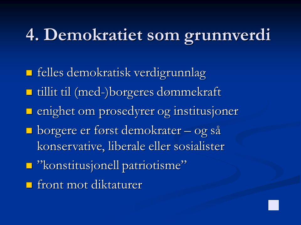 4. Demokratiet som grunnverdi