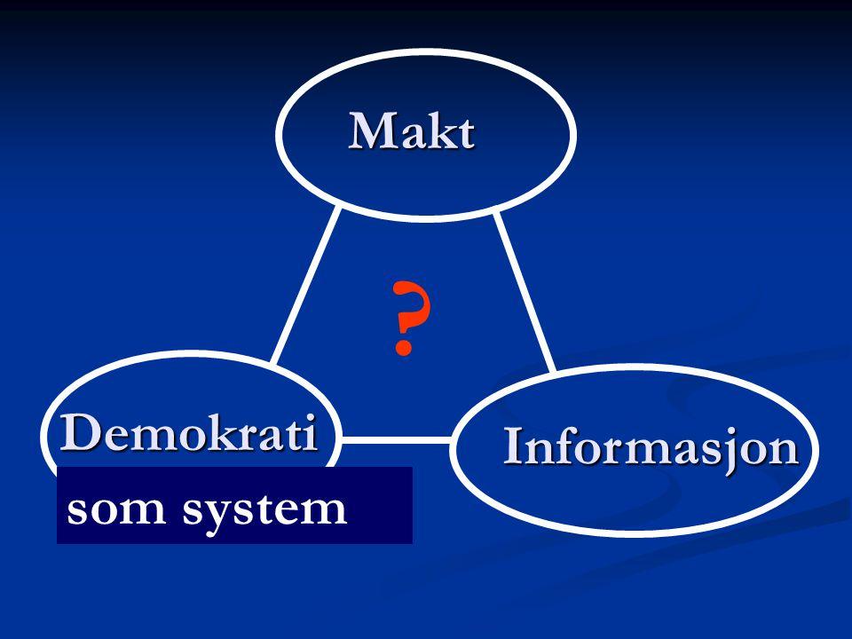 Makt Demokrati Informasjon som system