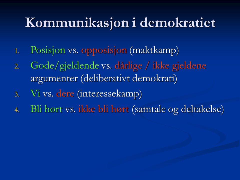 Kommunikasjon i demokratiet
