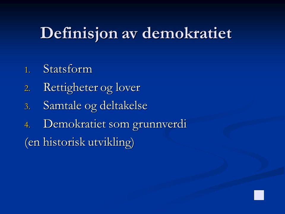 Definisjon av demokratiet