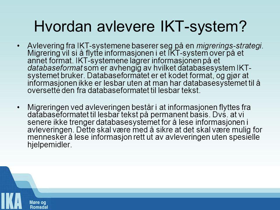 Hvordan avlevere IKT-system