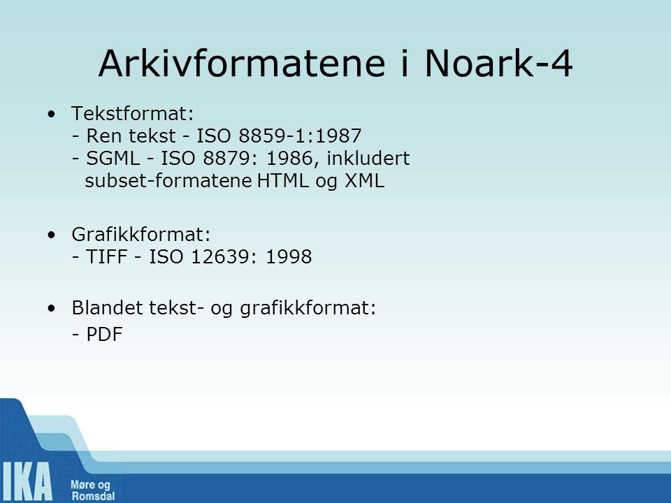Arkivformatene i Noark-4