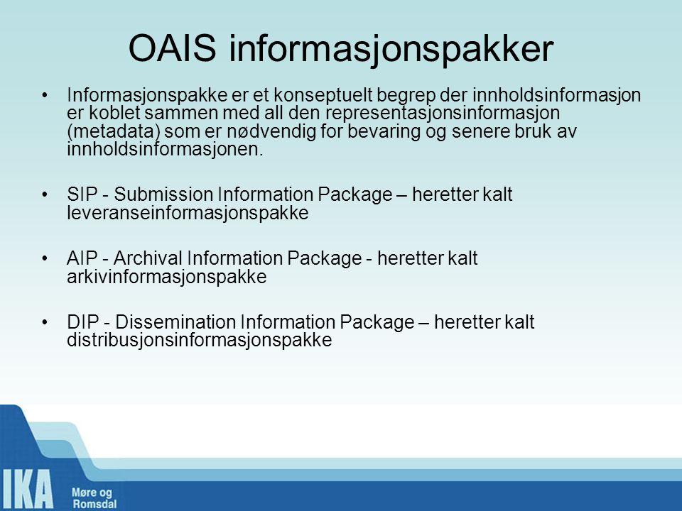 OAIS informasjonspakker