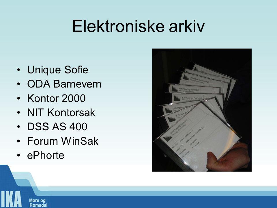 Elektroniske arkiv Unique Sofie ODA Barnevern Kontor 2000