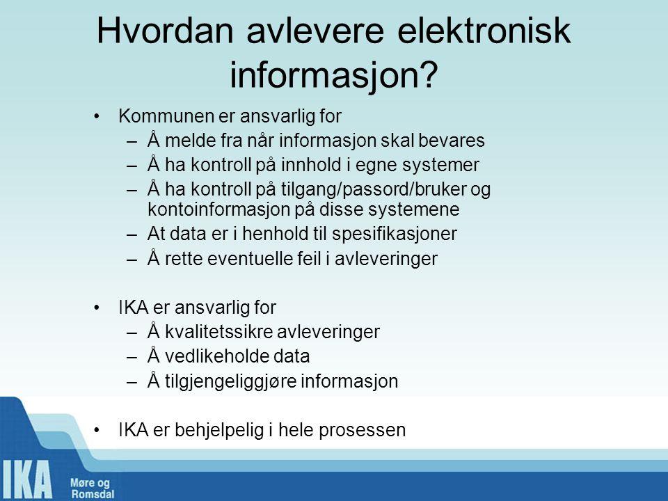 Hvordan avlevere elektronisk informasjon