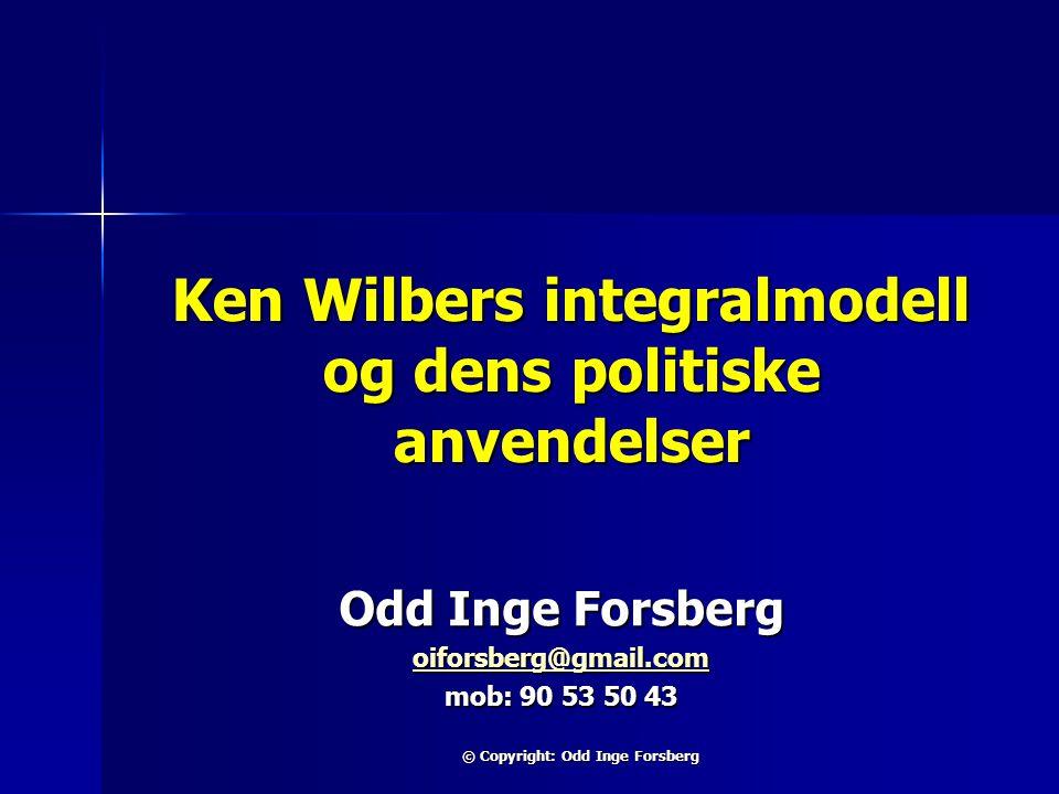 Ken Wilbers integralmodell og dens politiske anvendelser
