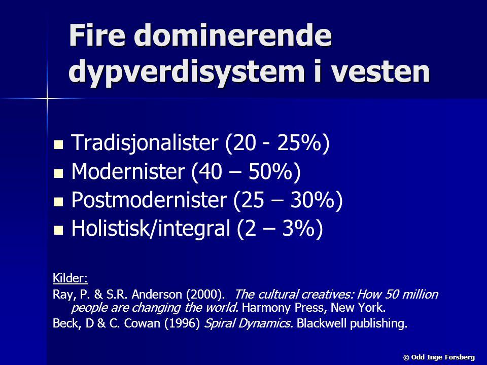 Fire dominerende dypverdisystem i vesten