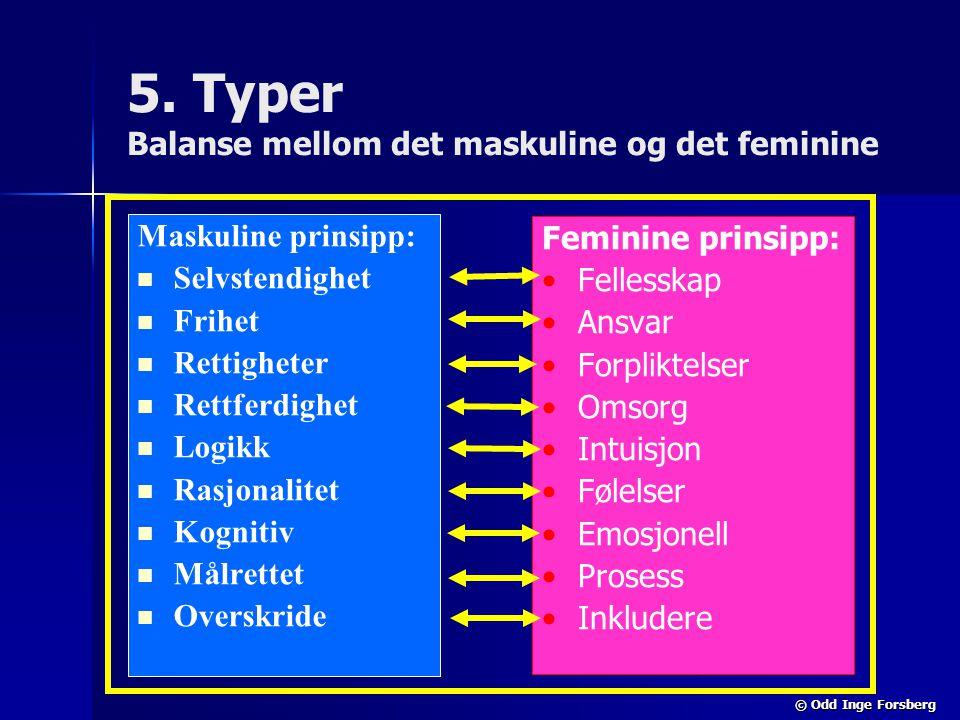 5. Typer Balanse mellom det maskuline og det feminine