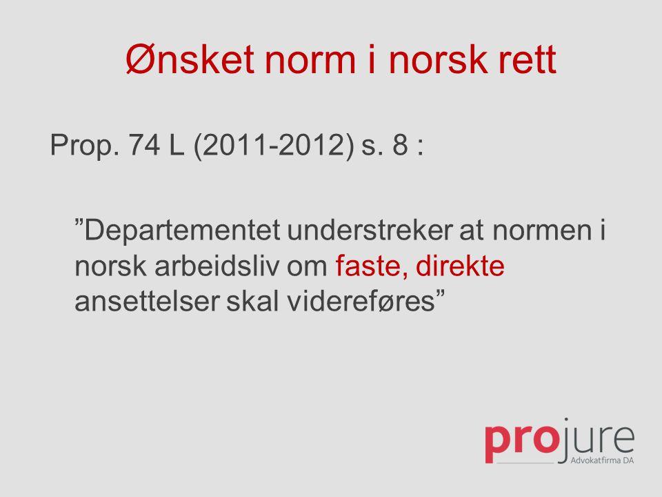Ønsket norm i norsk rett