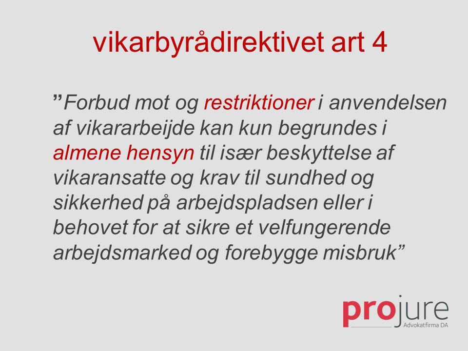 vikarbyrådirektivet art 4