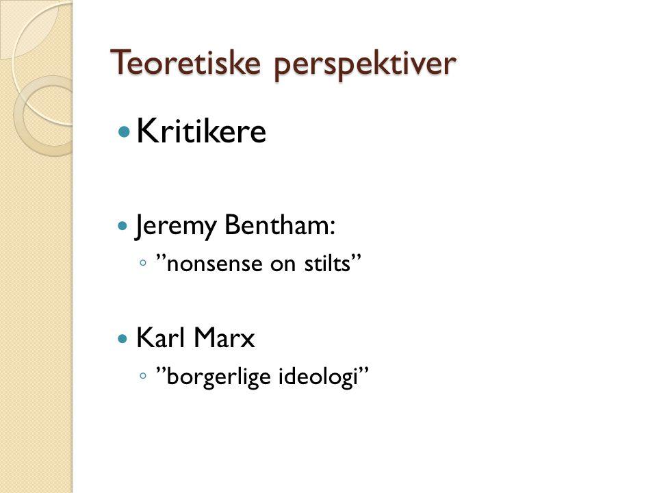 Teoretiske perspektiver